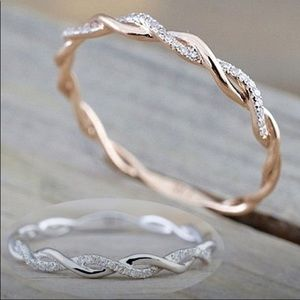 "1 NT🔥Vines""Twist Gold & Diam 14ct Simplicity Band"